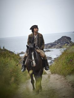 Aidan Turner in Poldark. Never before have I wanted to be whisked away on a horse to the countryside so badly...