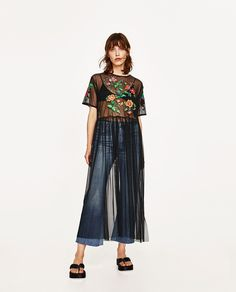 ZARA - WOMAN - EMBROIDERED TULLE TUNIC