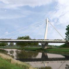 Tenderontwerp voor een verkeersbrug in de Burgemeester Letschertweg als… Eindhoven, Bridge, Architecture, Design, Arquitetura, Bridge Pattern, Bridges, Architecture Design, Bro