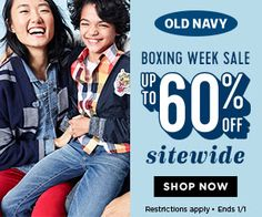 Old Navy Canada Boxing Day Sale: Save Extra 50% Off Clearance  25% Off Using Promo Code  More! http://www.lavahotdeals.com/ca/cheap/navy-canada-boxing-day-sale-save-extra-50/158066?utm_source=pinterest&utm_medium=rss&utm_campaign=at_lavahotdeals
