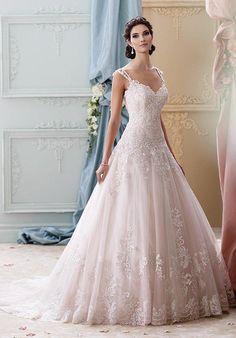 David Tutera for Mon Cheri 215277 - Arwen Wedding Dress - The Knot $419.99 David Tutera for Mon Cheri
