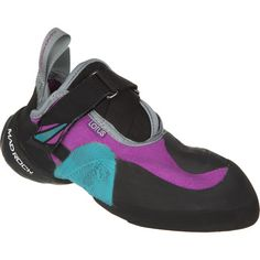 Madrock Lotus Woman's rock climbing shoe- love everything about this shoe! Amazing on smears and tiny chips; they make you into spider (wo)man :))