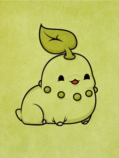 Pokemon - Chikorita by ~beyx on deviantart