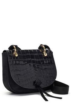 eb93a4fb3 'Zoe' Croc Embossed Leather Saddle Bag by Elizabeth and James on  @nordstrom_rack Maletas