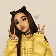 (@pepewhat) drawing of @arianagrande