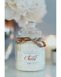 Bougie bonbonnière en cire de soja, parfumée Bois de santal.