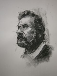 Γιάννης Ρίτσος Sketching, Charcoal, Portrait, Drawings, Art, Art Background, Headshot Photography, Kunst, Portrait Paintings