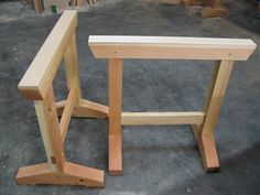 Use a simple mortise-and-tenon joint to make these fine-looking shop horses that'll last a lifetime.