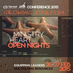 COTN HEART Join us Thu 7pm for ministry and to catch the heart from Ps. John of #HarvestCOTN15 and #GrowingStarfish at our #OpenNights