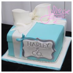 - Tiffany Box SMASH cake…  :)