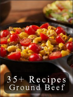 Ground Beef Meals the easy way! --two lists--assorted dishes and ideas and the 2nd is casseroles!! What's for dinner tonight!