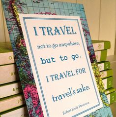 vintage map travel quote postcard by literary emporium | notonthehighstreet.com