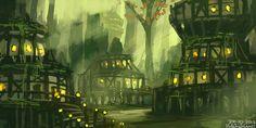 Swamp town by HideTheInsanity.deviantart.com on @DeviantArt