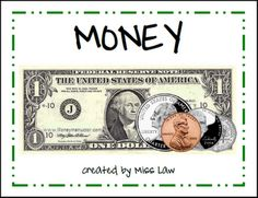 money book for teaching kids. saved under tutorial folder. This site has a bunch of other cute teaching activities Money Activities, Math Resources, Money Games, Learning Activities, Kids Learning, Money Songs, Math Worksheets, Teaching Money, Teaching Math
