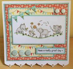 A new stamp set Wavy Elephants Penny Black Stamps, Kids Birthday Cards, Little Designs, My Stamp, Stamping Up, Kids Cards, Cute Cards, Cardmaking, Projects To Try