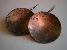 Rustic Copper Earrings by BalsamrootRanch.etsy.com - $39.00