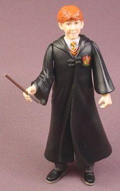 "Harry Potter Ron Weasley Gryffindor Action Figure, 5 "" tall, 2001 Mattel, Sorcerer's Stone"