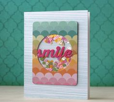 How Awesome is the Shaker card by Laura Bassen using Kelly Purkey Exclusives by Simon Says stamp. January 2014