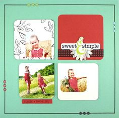 Sweet & Simple Enchanted Scrapbook Layout Page Idea  #scrapbooking