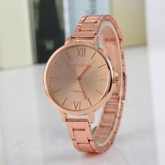 c2371dc4c52f Stainless Steel Women Brand Watches Fashion Silver Rose Gold Women Watch  Dress Quartz Wristwatch Reloj Ladies Clock Casual