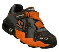 Skechers Children's Shoes - Mega Flex: Alkali in OrangeGray