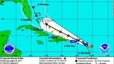 Tropical storm Erika is heading for Florida. While there hasn't been a hurricane there for 10 years, complacency will only cause trouble.