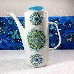 60s Vintage J&G Meakin Aztec Coffee Pot