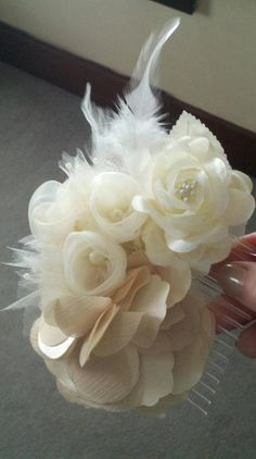 The Country Gal's Domestic Journey: DIY Wedding Hairpiece