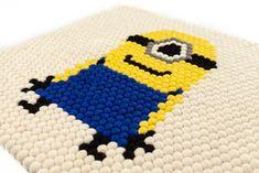 Custom Rug on RugThis Felt Ball Rug, Custom Rugs, Minions, Character, Design, Art, Art Background, The Minions, Kunst