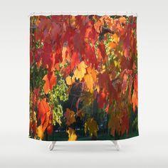 Beautiful home décor item featuring gorgeous rich jewel tone colorful leaves of a New England fall foliage season. Toothbrush holder in my other store.
