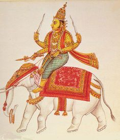 Indra was the King of gods and also referred to as Devendra, god of gods. The Vedic Indra was a very important god of the Hindu pantheo. Air Symbol, Aryan Race, Rain And Thunder, Vedic Astrology, Hindu Deities, Gods And Goddesses, Ancient Civilizations, Indian Art, Lord