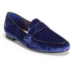 Candela Vinny Velvet Loafers ($115) ❤ liked on Polyvore
