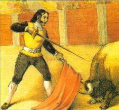 Francisco Romero, con los pies firmes y matando por arriba a estoque.