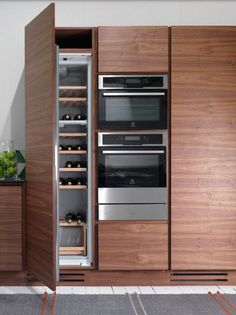 #wood veneer #kitchen LA CUCINA by Riva 1920   #design Matteo Thun @Riva Industria Mobili