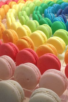 Macaroons...all colors of the rainbow
