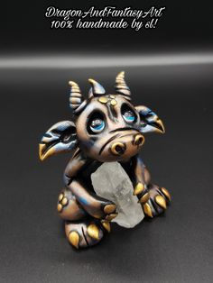 Handmade Dragon polymer clay Fimo art artwork artist
