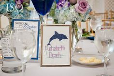 Hand Stitched table numbers I Nature of Design with Janet Flowers I Blue Maryland Weddings