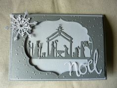 Project image Die Cut Christmas Cards, Christian Christmas Cards, Religious Christmas Cards, Christian Cards, Christmas Card Crafts, Homemade Christmas Cards, Xmas Cards, Homemade Cards, Handmade Christmas