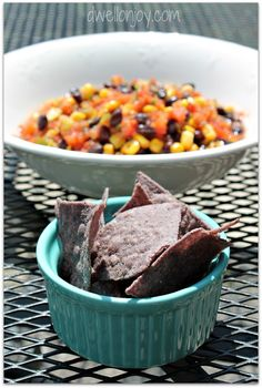 Dwell on Joy: {Mom's Party Salsa} Roasted Corn & Black Bean Salsa a la Trader Joe's
