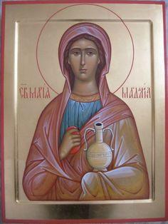 Religious Icons, Religious Art, Maria Magdalena, St Maria, Byzantine Icons, Orthodox Icons, Christian Art, Noli Me Tangere, Medieval