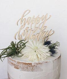 Happy Birthday Laser Cut Cake Topper