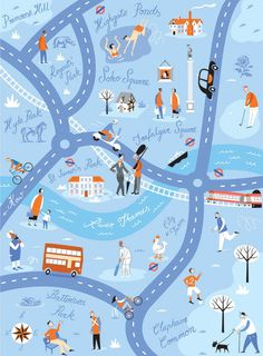 Travel and map illustration London map. Travel and map illustration London Illustration, Travel Illustration, Web Design, Game Design, Power Map, London Map, London Travel, London Transport, Transport Map