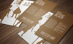 Flyer Archeon Dutch historical themepark/ museum by Vianey DL, via Behance