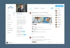 Medical Provider & Patient Management Dashboard UI | Flat User Interface Design