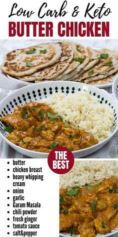 Ketogenic Recipes, Keto Recipes, Healthy Recipes, Keto Curry, 400 Calorie Meals, Low Carb Chicken Recipes, Butter Chicken, Keto Dinner, Low Carb Keto