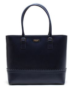 Love this Kate Spade Midnight Malena Lilac Road Large Leather Tote by Kate Spade on #zulily! #zulilyfinds