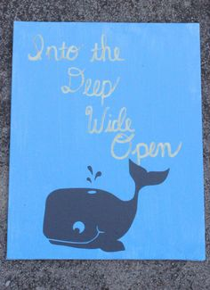 Here is one of the crafts I worked on this weekend - nautical nursery signs for which I used Bobee Whale Decals. These decals are beyond easy to use on any flat surface. And the surface I used them on, canvas, isn't even really what they intended them to be used on, and they still applied like a dream. So if you have a nautical themed room, party, or just really like whales, check these out!