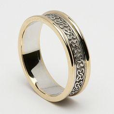 Fionnoula Celtic Wedding Ring (C-370) - Celtic Wedding Rings