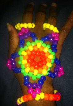 Custom Neon Rainbow Glitter Supernova Star by KandiQueenBoutique