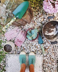 Una pátina que me enamoró / Vero Palazzo - Home Deco Palazzo, Enjoy The Little Things, Spring, Instagram, Garden, Hydrangeas, Gloves, Cute, Colors